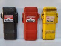 SET Of 3  VINTAGE ~1992~ Marlboro Adventure Team Lighter / Yellow, Black, Red