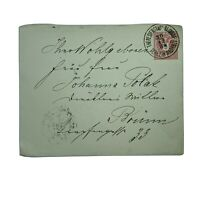 1884 THERESIENSTADT TEREZIN COVER TO BRUNN, LATER USED AS WW2 CONCENTRATION CAMP