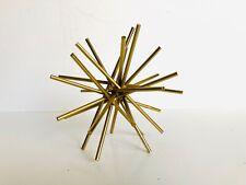 Beautiful Modern Geometric Gilt Gold Table Sculpture WOW !
