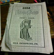 Sega ENDURO RACER Arcade Video Game Manual - good used copy