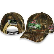 KYLE BUSCH #18 2019 NASCAR CUP CHAMPION CAMO EMBROIDERED MESH HAT