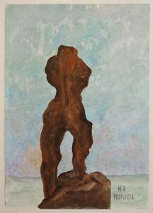 Hans-Peter PROFUNSER (*1956), Entwurf Torso, AQUARELL, SIGNIERT