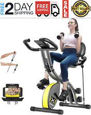 Folding Magnetic Exercise Bike Adjustable Resistance Foldable Cycling Bike Indoo