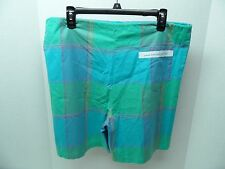 Vintage Ocean Pacific Op Plaid Drawstring Shorts Pastel Board M Medium 80s