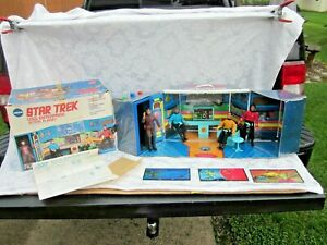 VINTAGE MEGO 1975 Star Trek USS Enterprise Action Play Set W/ Figures & ORG BOX