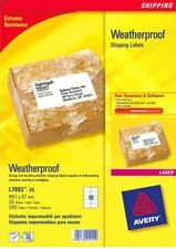 Avery L7992-25 Weatherproof Shipping Labels 99.1x57mm White [Pack of 250 Labels]