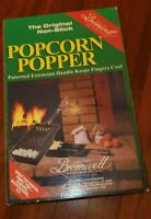 NEW Vintage Bromwell Non-Stick Popcorn Popper Campfire Stove top Camping Camp