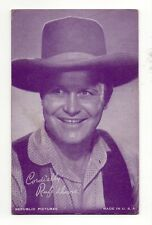 Rufe Davis 1940's Salutations Cowboy Purple Exhibit Arcade Card