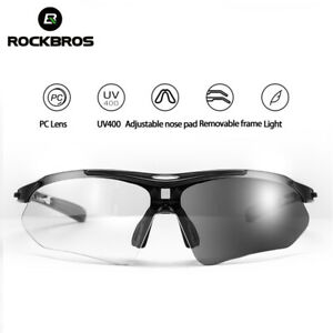 ROCKBROS Cycling Sunglasses Photochromic Eyeglasses Outdoor Bike Glasses Unisex