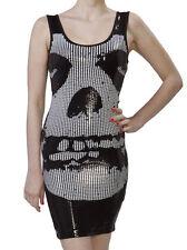 NWT Iron Fist Juniors Womens Misfits Sequin Tank Dress Crimson Ghost Medium New