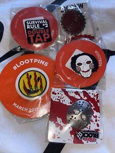 Bundle Of Pin Badges Loot Crate Wootbox Abox Horror Block Horror Pins