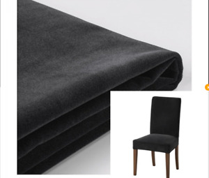 6 x New Original IKEA covers HENRIKSDAL chairs DJUPARP Dark Grey VELVET