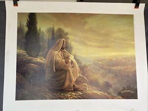 Greg Olsen O Jerusalem Art Print Lithograph Signed Numbered 3760/5000 Jesus God