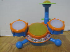 VTech KidiBeats Learning Drum Set No Drumsticks Tested Works GREAT CONDITION!