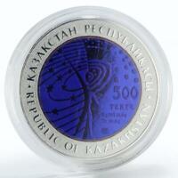 Kazakhstan 500 tenge International Space Station silver coin 2013