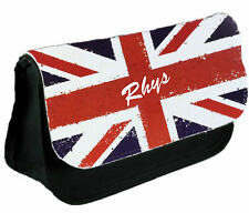 Personalised Union Jack School Pencil Case / Make Up Bag / Clutch Bag Xmas GIFT