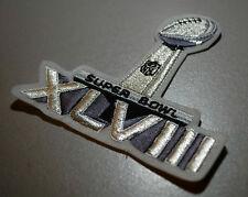 NFL SUPER BOWL XLVIII SUPERBOWL SB 48 JERSEY SILVER METALLIC IRON-ON INSIGNIA
