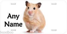 Hamster Any Text Novelty Aluminum Car Auto License Plate