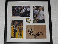 Buzz Williams Signed Floorboard Framed COA Marquette Basketball