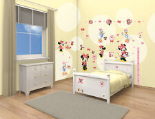 6 Large Sticker Sheets for Kids Bedroom Disney Minnie Mouse 41431 Walltastic