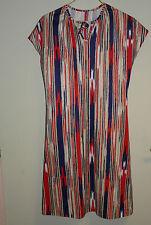 Authentique robe vintage bleu / blanc et rouge à manches courte T 40