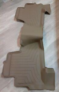 WeatherTech Floor Mats FloorLiner for Chevy Tahoe/GMC Yukon - 2nd Row - Tan