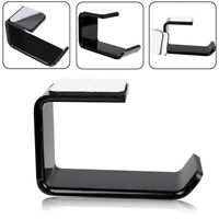 1X Acrylic Headphone Stand Hanger Hook Under Desk Dual Headset Mount Rack Holder