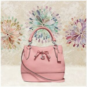 COACH Carnation Micro Ally Bucket Bag Purse HAPPY PINK NEW TAG