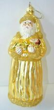 Rare Early Patricia Breen Golden Santa Holding Baby Jesus Christmas Ornament