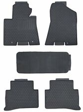 Black Rubber All Weather Floor Mats for 2010-2015 Kia Sportage Custom Fitment