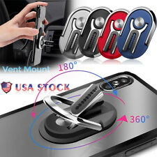 Cell Phone Finger Ring Holder Stand Car Air Metal Plate Rotating Magnetic Grip