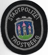 Polizei BAYERN Stadtpolizei  TROSTBERG  Abzeichen handgest. Patch StaPo 60er J.