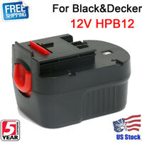 12V HPB12 BATTERY FOR Black&Decker 2.0AH FSB12 Firestorm FS120B A12 Slide Tools
