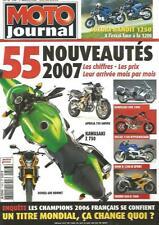 MOTO JOURNAL N°1743 APRILIA 750 SHIVER / KAWA Z 750 / HONDA 600 HORNET / GTR