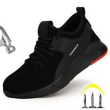 MENS LIGHTWEIGHT SAFETY TRAINERS SUEDE UPPER STEEL TOE CAP TRAINERS BOOT SHOES