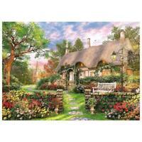 1000 Piece Jigsaw Puzzle England Cottage Landscapes Puzzles Educational Q0W5