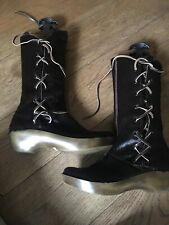 Robert Clergerie GALOPIN Horse/Calf ' Hair Boots Brown RRP: £570-EU 40 FALL 2003
