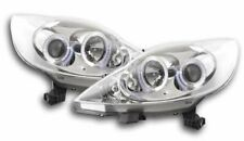 Peugeot 107 Headlights 2005 Angel Eyes Chrome RHD - FREE P&P DHL