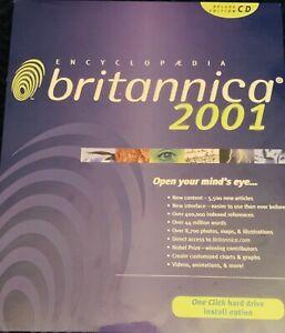 Encyclopedia Britannica 2001 Deluxe Edition CD for Windows 2 Disc