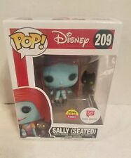 Glow in the Dark, Flocked Sally (Seated)  with Cat Walgreens Exclusive Funko Pop