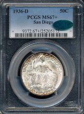 1936-D San Diego Commemorative Half Dollar PCGS MS67+ / CAC