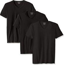 Emporio Armani 3 Pack of Black V-Neck Undershirts
