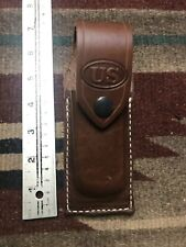 Leather Knife Sheath fits Buck 110 w/ Flap / Belt Loops - No Knife USA Made