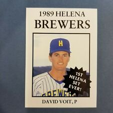 1989 Sports Pro HELENA Brewers #12 DAVID VOIT Lexington KENTUCKY Baseball Card