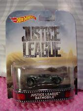 2017 JUSTICE LEAGUE Batman BATMOBILE☆gray;real riders☆Hot Wheels Retro Enter