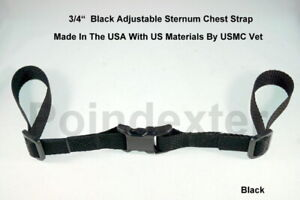 Backpack Chest Strap, 3/4 Inch, Black Webbing, Sternum Strap, NEW, US Made