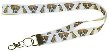 More details for boxer breed of dog lanyard key card holder perfect gift