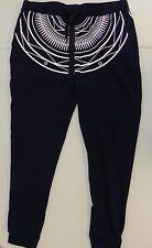 "Rocawear Blak Mens Geometric Sweat Pant Navy Blue Large 31"" Inseam AJ183"