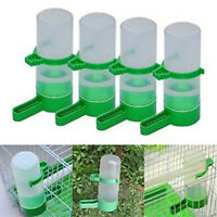 4 x Pet Cage Aviary Bird Parrot Budgie Canary Drinker Food Feeder Waterer Clip