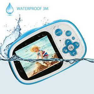 IP68 Kinderkamera Digitalkamera Videokamera Geschenk für Jungen Mädchen 32GB